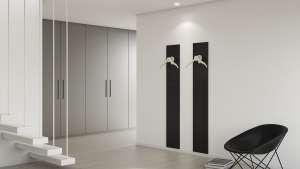 Hangers in a modern room